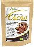 Polvo de Cacao Peruano Crudo Orgánico (500g), MySuperFoods, Delicioso y bueno para usted, Rico en micronutrientes , certificado como producto orgánico, antiguo alimento para la salud maya