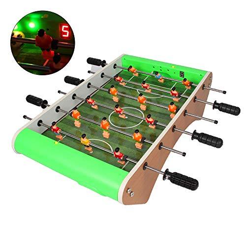 ZY Elektronische Kickertisch Mini Tischfussball Mit Beleuchtung Und Musik Fußball Tischmaschinen Für Arcades, Spielzimmer, Parties, Familie Nacht