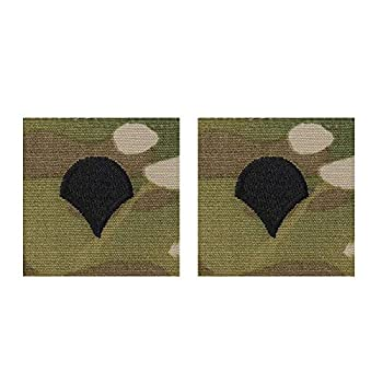 US Army Small Narrow Version Sew-On OCP Scorpion Rank For Cap only pair Specialist