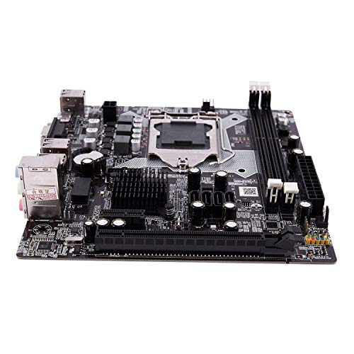 SODIAL H81 LGA 1150 Placa Base LGA1150 Micro-ATX Imagen de Escritorio USB2.0 SATA2.0 Dual Channel 32GB DDR3 1600 para Intel
