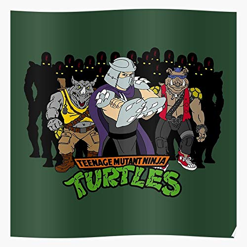 CHENXIAOYAN Poster Turtles Rocksteady with Mutant Shredder Bebop Teenage, Best Home Wall Art Decor Poster 2020