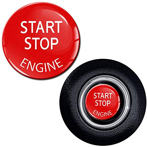SkinoEu® 2 x 24mm Autocollants Silicone 3d gel Start Stop Commutateur Démarrage/Arrêt Moteur Engine Bouton de Démarrage Bouton-poussoir Véhicule Voiture KS 33
