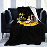 Ultra-Soft Micro Fleece Blanket ビートルズ イエローサブマリン ロゴ Yellow Submarine Fleece Throw Blanket, Double-Sided Super Soft Blanket for Bed, Couch, Home, Sofa