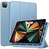 ZtotopHülle Hülle für iPad Pro 11 2021(3rd Generation)/iPad Pro 11 2020(2nd Generation), Trifold Stand Schutzhülle Hülle Cover mit Auto Aufwachen/Schlaf, Ultra Dünn Smart Magnetische Abdeckung-Hellblau