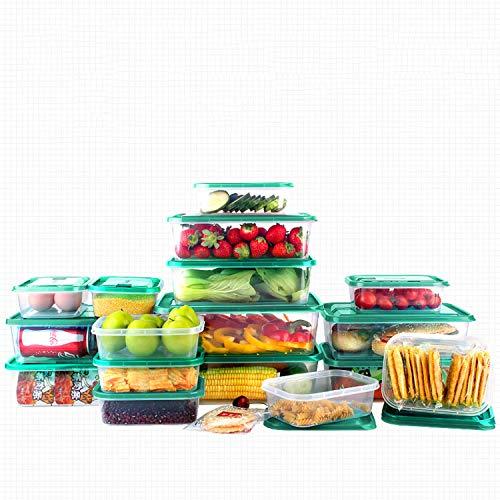 Contenedores de almacenamiento de alimentos, 17 unidades/contenedores de alimentos con tapas, recipientes de almacenamiento de cocina, contenedor de almacenamiento de alimentos sellado
