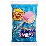 Chupa Chups Lecca Lecca Milky, Lollipop Assortiti Aroma Cacao e Vaniglia, Panna Fragola e ...
