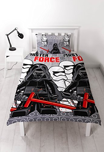 LEGO STAR WARS Seven' Single Duvet Set-Repeat Print Design, Polyester-Cotton, Multicolour