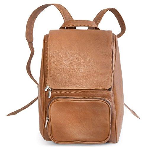 Mittel-Großer Lederrucksack Größe M Laptop Rucksack bis 14 Zoll, für Damen und Herren,...