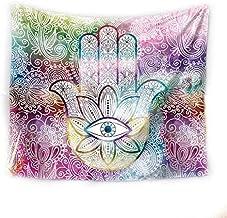 Hand of Fatima Tapestry Art Wall Hanging Tapestry Beach Towel Bedspread Yoga Mat 150x200cm