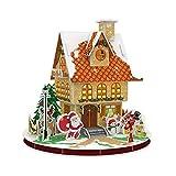 tulipes Rompecabezas 3D de la casa de Navidad, Rompecabezas de la casa de Jengibre de Navidad 3D, Kits de decoración de la casa de Navidad en 3D Artes y Manualidades navideñas para Que los Generous