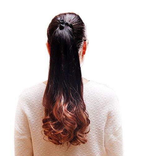 Highlight long Ponytail Extension pour les femmes, Brown