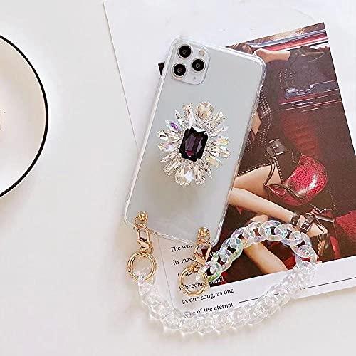 KESHOUJI Caja del teléfono de la Pulsera del Soporte del Diamante del Diamante Artificial de Lujo para el iPhone 11 12 Pro MAX XR XS MAX X 7 8 Plus Cubierta para Samsung S8,3, para Samsung S9