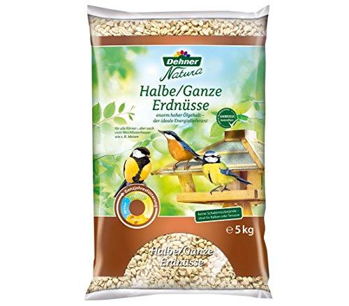 Dehner Natura Wildvogelfutter, halbe/ganze Erdnüsse, 5 kg