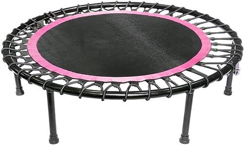 Faltendes Trampolin 40 Zoll, Runde übung Fitnessger  Bungee-Sprungmatte, Hochleistungs-Trampoline für Erwachsene Kinder