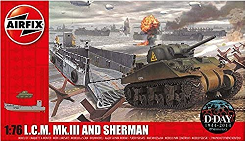 1 76 USA LCM and Sherman Tank by Airfix