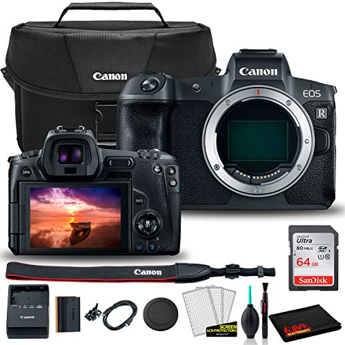 Find Discount Canon EOS R Mirrorless Digital Camera (Body Only) (3075C002) + Canon EOS Bag + Sandisk...