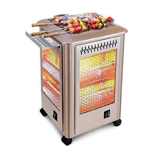 Zzaoxin Riscaldamento Riscaldatore Elettrico Patio, Grill e Calore Multifunzionale riscaldatore Esterno, a 360 ° a Cinque Lati Riscaldamento Elettrico Stufa a Fungo