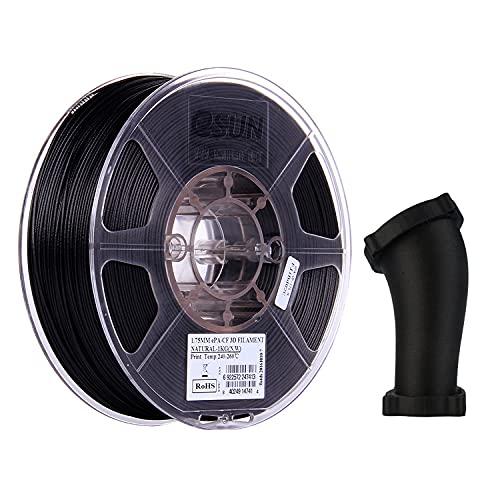 eSUN Filamento Fibra di Carbonio in Nylon 1.75mm, Stampante 3D Filamento PA-CF, Precisione Dimensionale +/- 0.05mm, Bobina da 1KG (2.2 LBS) Materiali di Stampa 3D per Stampante 3D, Naturale