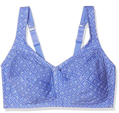 Susa Damen Bügelloser BH, Blau (Blau-Bedruckt 299), (Herstellergröße: 105G)