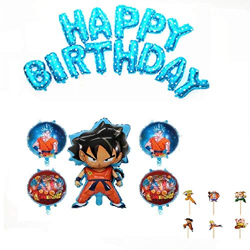 Dragon Ball Birthday Decoration Party Set Character Cute Kids Boys Cool Anime monkey king sun wukong Happy Birthday Garland banner Balloon Cake Topper 30pieces Set