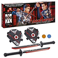 Fight like a hi-tech ninja with this action-packed electronic battling game Battle ready right out of the box with 2 swords and 2 chest pieces included Automatically detects and scores hits with Smart Strike Technology Multiple battle modes to choose...