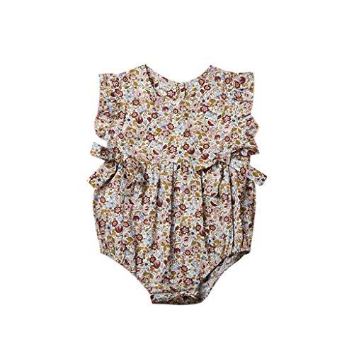 Pwtchenty baby Kinder äRmellose Bow Einfachen Cute Kleidungs Set MäDchen Baumwolle Strampler Jumpsuit Spielanzug Kleider