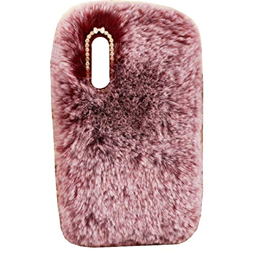 Mi 9 Explorer Art Case, Handmade Fluffy Villi Wool Cute Ball Tail Winter Warm Soft Funda, TAITOU Beautiful Special Full Wool Design Light Slim Protection Phone Case For Mi9 Explorer Red