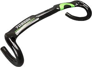 TOSEEK Carbon Fiber Bicycle Handlebar Bent Bicycle Handlebars for Road Bike Mountain Bike