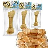 BPS® Hueso Nudo para Perros Fortalecedor de Dientes Pet Snack Piel de Vacuno Diferente Tamaños BPS-5064 (16cm 3pcs)