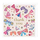 Whistlefish Thank You Card - Colourful Butterflies