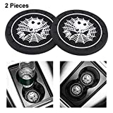 WENGUISP 2Pcs-for Nightmare Before Christmas Jack Skellington Car Interior Accessories Cup Holder Insert Coaster - Silicone Anti Slip Cup Mat for All Vehicle Models 2.75' (Fit Jack Skellington2)