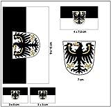 Aufkleber Set Ostpreußen Fahne Flagge