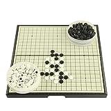 Zavddy Go Bang Magnetisches Go Game Set mit einzelnen konvexen magnetischen Plastiksteinen und Go Board for Kinder und Erwachsene Brettspiel Strategiespielbrett (Farbe, Size : 37 * 37cm) -