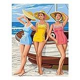 Anchor Leinwand: Royal Paris: Beach Girls, Mehrfarbig, One