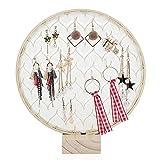 Facibom Support de présentation en bois massif pour boucles d'oreilles, bijoux, bracelets, colliers, accessoires de photographie, abri de jardin