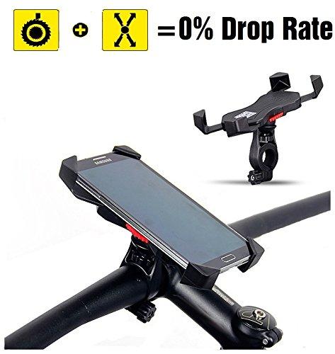 Fahrrad Handyhalterung, Anti-Shake GPS Halter, Universaler Fahrradhalter für Straßenfahrräder Motorrädern Crossbike Mountainbike und Scootern, 3,5-6,5 Zoll Smartphone oder andere Geräte