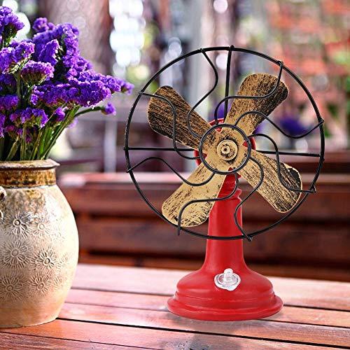 【Regalo de año nuevo】Decoración de mesa retro, modelo de ventilador eléctrico, exquisita...