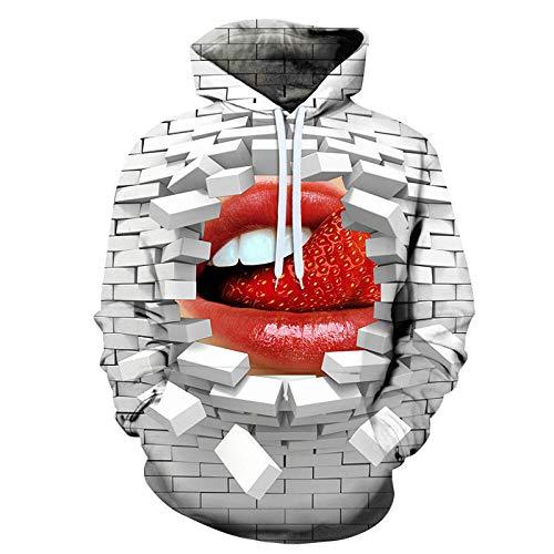 Sunxciast Lovers Wear 3D impresión digital con capucha béisbol uniforme otoño e invierno hombres y mujeres suéter con capucha