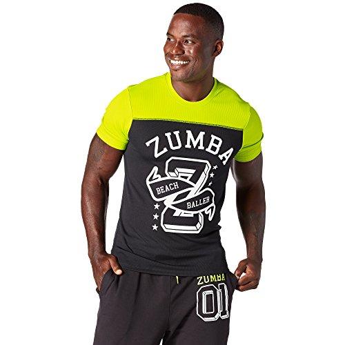 Zumba Fitness Hombre Team Béisbol té Top, Todo el año, Hombre, Color Zumba Green, tamaño Medium