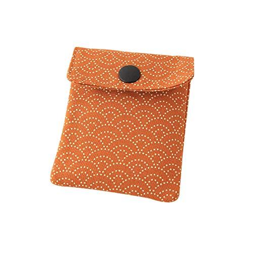 携帯灰皿 おしゃれ かわいい 和風 青海波 オレンジ 匠の技 河島彰子作 インナーリフィル合計2個付属 日本製