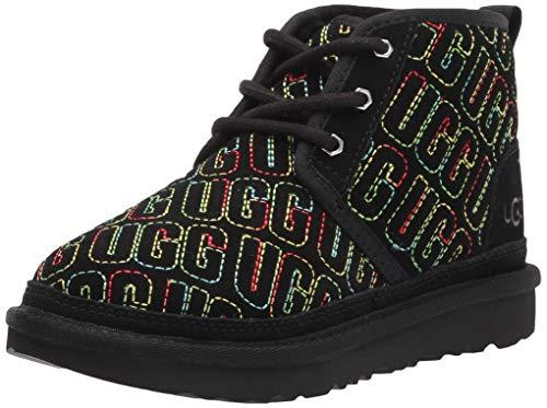 UGG unisex child Neumel Ii Graphic Stitch Chukka Boot, Black, 6 Big Kid US