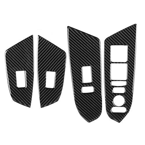 Semiter Cubierta del Panel de Control de la Ventana, Cubierta del Panel del Interruptor de la Ventana del automóvil, Piezas de automóvil Mantenimiento del automóvil Piezas
