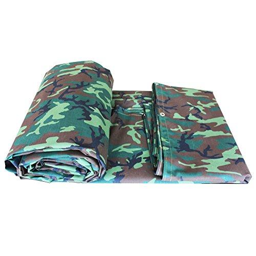 AJZGF en Plein air Toile épaisse bâche Tente Durable résistant à la déchirure extérieure Industrielle Tissu Pare-Soleil Coupe-Vent, Camouflage (Color : Camouflage, Size : 2x2.5m)