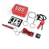 SOS EDC - Kit de supervivencia 7 en 1 para acampada y senderismo