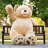 MorisMos Groß Teddybär Weiches Plüsch Spielzeug Braun 260cm/103