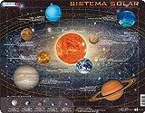 Larsen SS1 Sistema Solar, edición en Español, Puzzle de Marco con 70 Piezas