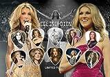 Celine Dione Signed Autograph Guitar Médiator Écran (Limited to 500Prints)