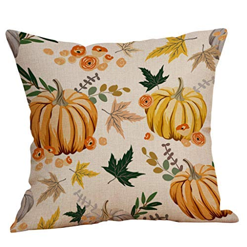 Pillowcase Halloween Pillow Cases Linen Sofa Pumpkin Ghosts Cushion Cover Home Decor Home & Garden (N)