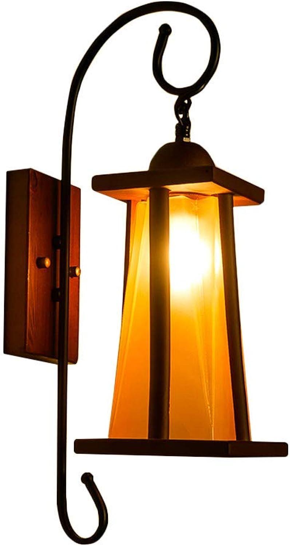 WandleuchteSchmiedeeisen Gang Balkon Nachtportal Einfache Persnlichkeit Lampe (Farbe  Gelb)