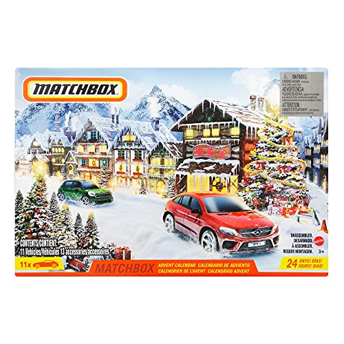 Matchbox GXH01 - Adventskalender mit 11 Fahrzeugen